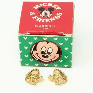 Vintage Mickey Mouse clip on earrings